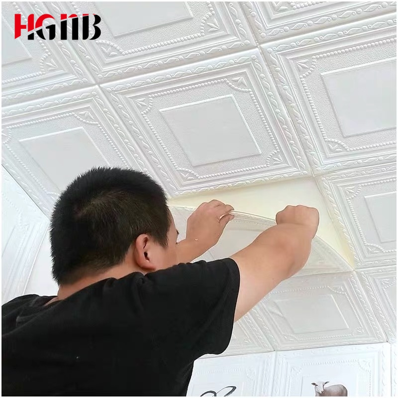 New Style Roof Decoration Wallpaper 3D Stereo Wall Stickers Waterproof Ceiling Sticker Bedroom Ceiling Self Adhesive Wallpaper