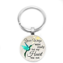 Commemorating The Charm Keychain, Your Wings Are Ready, But My Heart Is Not, Losing Loved Ones In Memory, Sadness or Loss. kathy ireland loved ones tonal