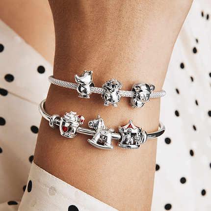 2019 New Style Bruno The Unicorn Rocking Horse Christmas Charms Fit Original Pandora Bracelet Necklace For Women Diy Jewelry Beads Aliexpress