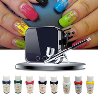 Airbrush Kit For Nail Art Air Brush With Compressor + 8 Colors Newest Nail ink For Nail Beauty Multi Style DIY EU/US/UK/AU Plug