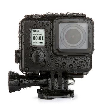 Dla GoPro Blackout wodoodporna obudowa przypadku GoPro Hero 4 3 + obudowa podwodna 35M pod wodą do nurkowania iść akcesoria pro tanie i dobre opinie NEELU 2103 Wodoodporne Obudowy