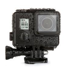Dla GoPro Blackout wodoodporna obudowa przypadku GoPro Hero 4 3 + obudowa podwodna 35M pod wodą do nurkowania iść akcesoria pro tanie tanio NEELU 2103 Wodoodporne Obudowy