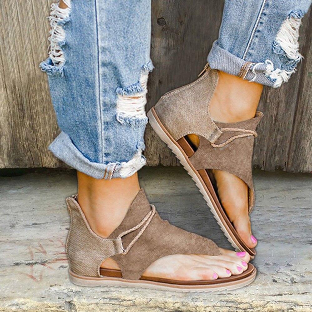 Women Sandals Leopard Pattern Large Size Rome Sandals