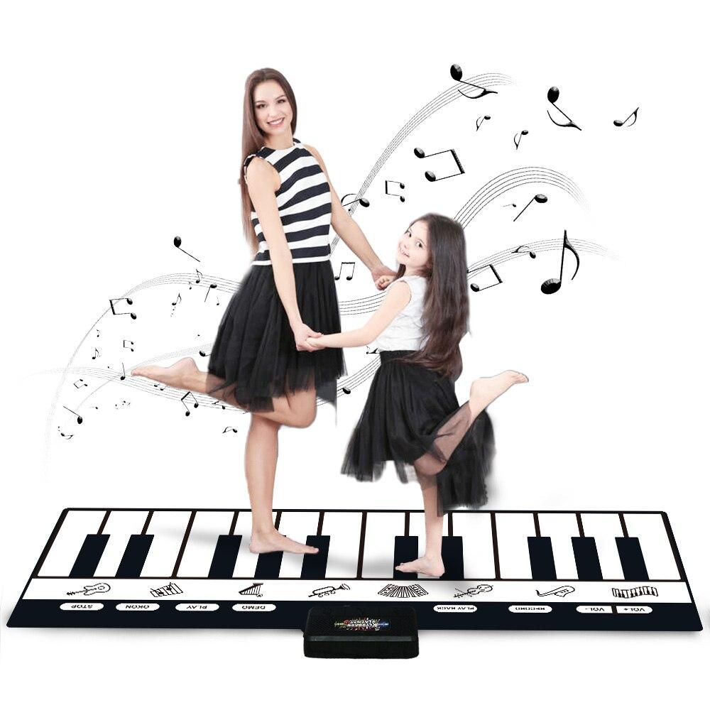 180x72 см 24 клавиши многофункциональный музыкальный коврик для пианино клавиатура детский игровой коврик Музыкальные инструменты Обучающие ...