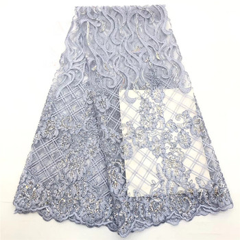 African lace fabric 2020 High Quality lace Embroidered Brocade Lace french Tulle Lace Fabric for nigeria party dress  ro15-99