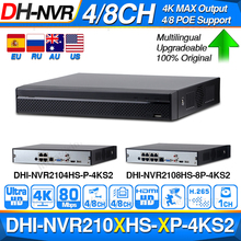 Dahua NVR2104HS P 4KS2 NVR2108HS 8P 4KS2 4CH 8CH POE NVR 4K рекордер Поддержка HDD 4/8CH POE для системы видеонаблюдения комплект безопасности.