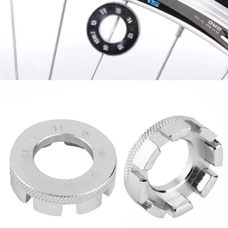 8 Way Bicycle Spoke Nipple Wrench 8 Way Groove Bike Wheel Rim Adjuster Spanner Galvanized Repair Service Tool Key