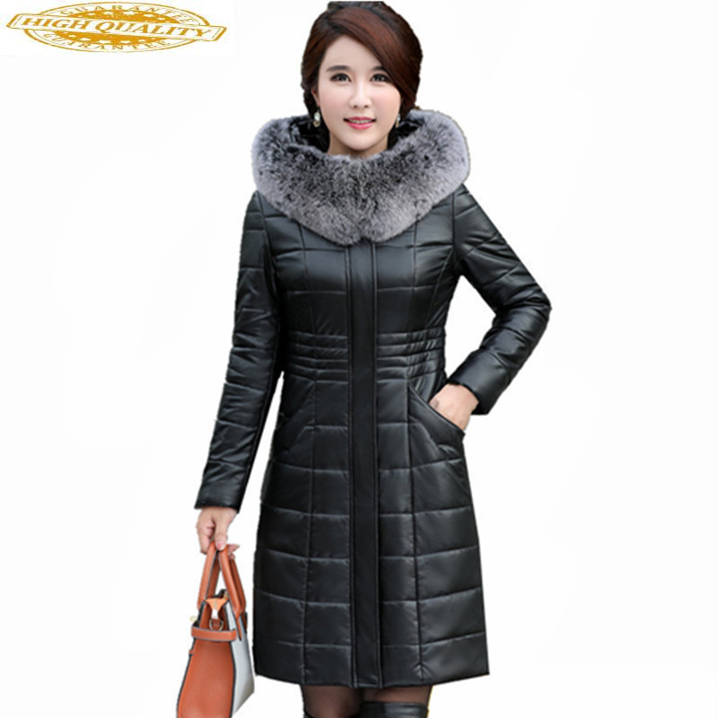 Fashion Winter Jacket Women Fox Fur Collar White Duck Down Jackets Warm Coat Female Thick Parka Casaco Feminino WXF462