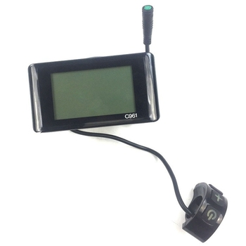 C961 Electric Bike LCD Display for BAFANG Bicycle Ebike BBS01 BBS02 Mid Drive Motor Bicycle Modification Part