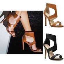 Women Sandals Shoes High Luxury Shoes Women High Heels Summer Pumps Woman Shoes Fashion Zipper Sandal Open Toe Ladies Shoes цена 2017