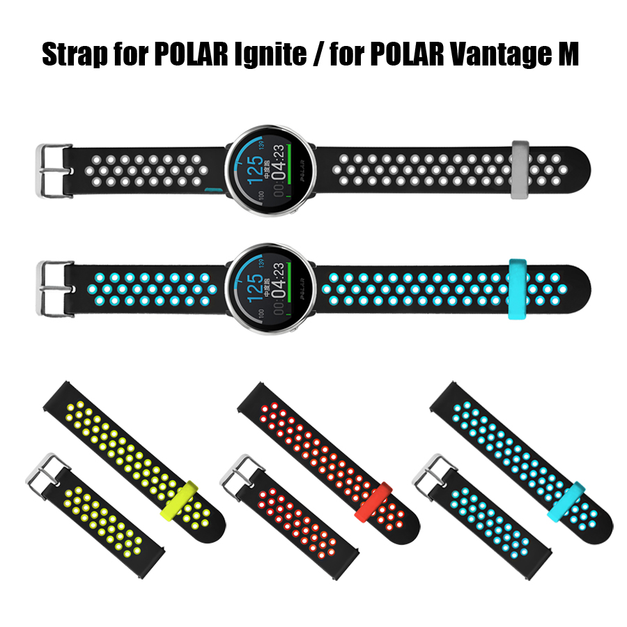 Silicone Strap For Polar Ignite Smart Watch Band Sports Wristband Bracelet For Polar Vantage M Replacement Band Strap