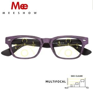 Image 2 - Meeshow קריאת משקפיים Multifocal גברים רטרו אירופה כחול אור חסימת משקפיים prtection Leesbril קריאה מתקדמת 1512