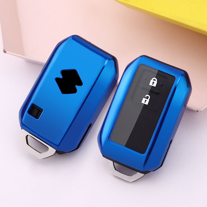 TPU car key cover case for suzuki new swift 2017 2019 2020 wagon R monopoly type 3c 2 button remote keyless holder protection