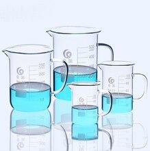 Лабораторный стеклянный стакан с стеклянной ручкой для Химического