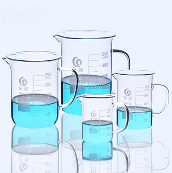 1Pc/lot lab Full Glass beaker with glass handle for Chemistry glass measuring beakers glassware 50ml 12pcs set pyrex beaker borosilicate glass lab glassware chemical measuring cup flat bottom for scientific test