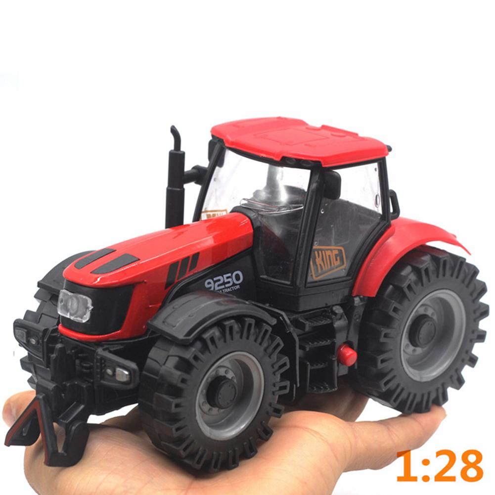 1/28 Diecast Engineering Tractor Farm Sliding Car Model With LED Sound Kids Toy New