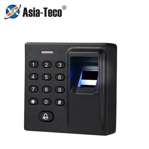 Mini Biometric Fingerprint Access Control Standalone Door Controller Keypad Finger and RFID Card Door Entry Lock D1-j(China)