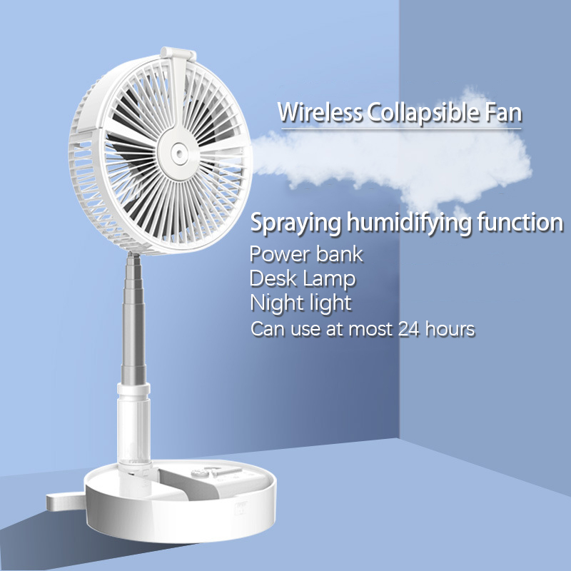 Portable Fan Desk Electric Floor Computer Table Fan Home Office Outdoor Electric Fans Rechargeable Low Noise Cooling Fan