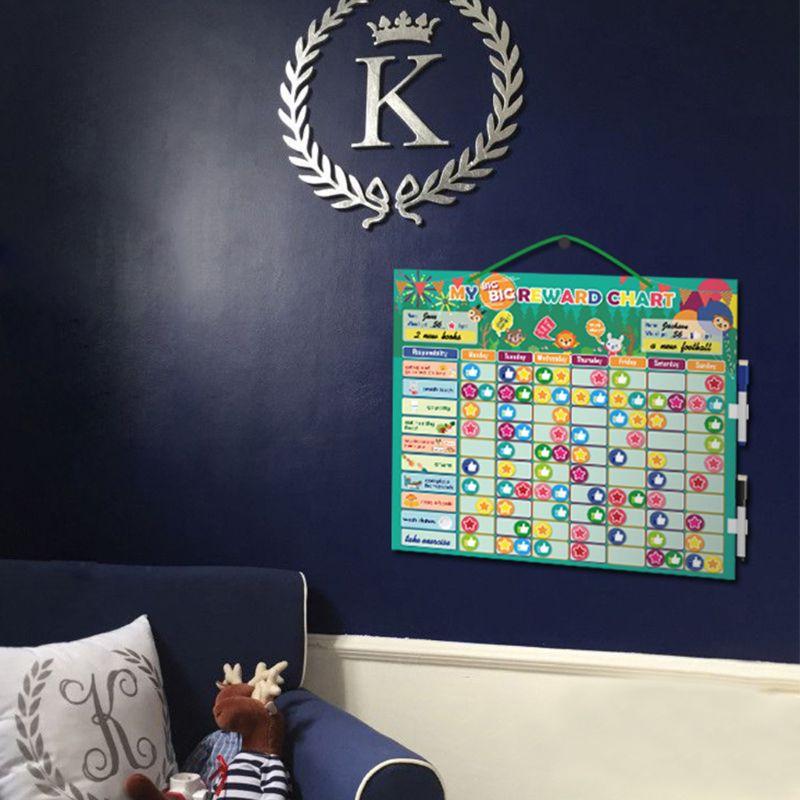 Magnetic Reward Behavior Chores Chart Board Educational Table Calendar Kids Toy M89C