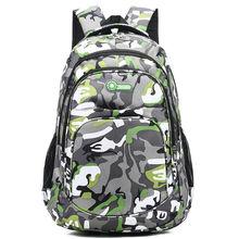 Teen Boys School Bags for Teenage Girls Backpack Men Women Nylon Solid Soft Large Bookbags Student College Schoolbag 2020 New cheap BOWEEN zipper 0 6kg Polyester 45cm Camouflage back bag 2020 unisex 13cm 30cm
