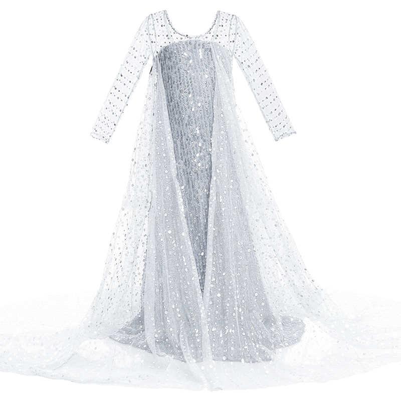 少女エルザドレス子供コスプレ雪の女王 2 エルザ衣装子供ファンシー変装アンナ誕生日パーティープリンセスドレス新服