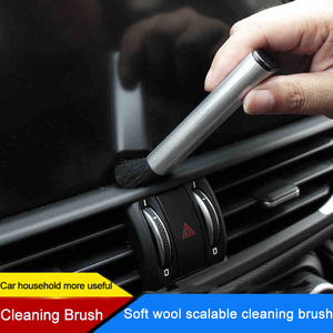 Image 2 - QHCP Car Conditioning Air Outlet Cleaning Plastic Small Dust Removal Artifact Soft Brush Retractable Interior For All Cars