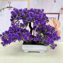 Искусственное растение бонсай, искусственные цветы, украшение для дома, искусственное растение в горшке, имитация цветов