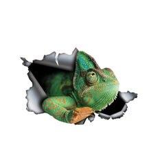 Интересная наклейка на автомобиль аксессуары зеленая хамелеоновая