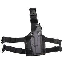Glock 17 gota perna coldre caça tático coxa cintura cinto pistola coldre plataforma arma acessórios para glock 17 19 22 23 31 32