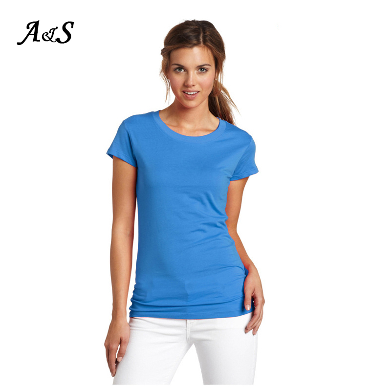 Anbenser Women Tshirt High 100% Cotton Quality Casual T Shirt Femme Sexy O-neck Short Sleeve Solid Summer Tshirts For Women Tops