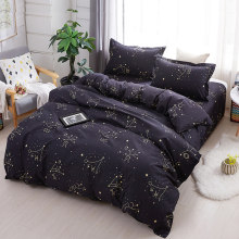 constellation 3/4pcs modern bedding set Quilt Cover Bed Cover Flat Sheet Pillow Cases Bedding Linen Set(China)