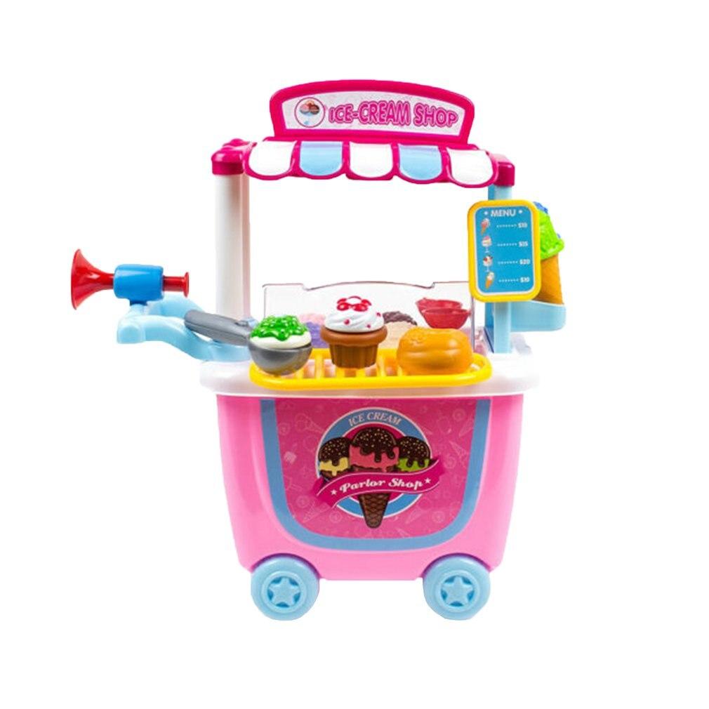 Ice Cream Sweet Shop Cart Shop Toy Pretend Play Set Children Kids Set Role Play Set Children's Educational Toy