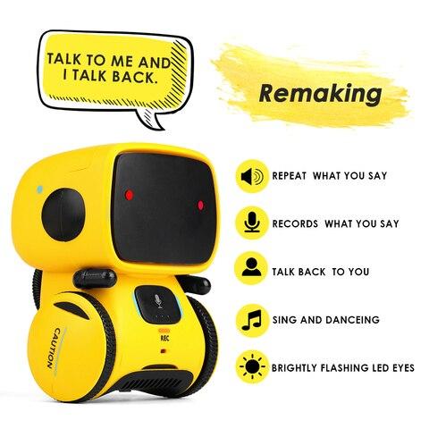 robos inteligentes brinquedo para criancas danca comando de voz controle toque brinquedos robo interativo bonito