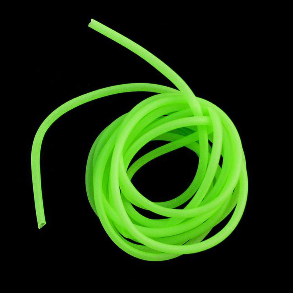 Durable Sleeves Rig Green Silicone Luminous Soft Fishing Tube Accessories Connector Wear Resistance Lure Attractant Hook Line