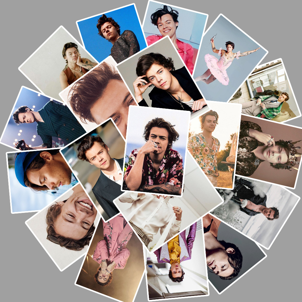 25pcs British Singer Harry Edward Styles Stickers For Car Laptop PVC Backpack Water Bottle Pad Bicycle Waterproof Decal