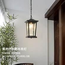 Lampe led suspendue étanche Vintage, éclairage d'extérieur, pour couloir, allée, balcon, cour