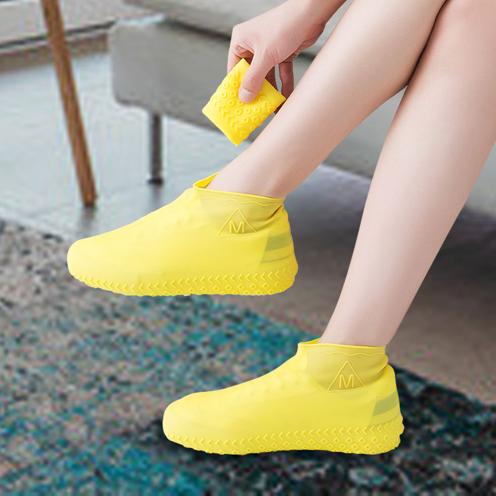 Waterproof Shoes Cover Durable Non-Slip Silicone Unisex Rain Boot Overshoes Suitable for Outdoor Camping Rainy and Snowy Days