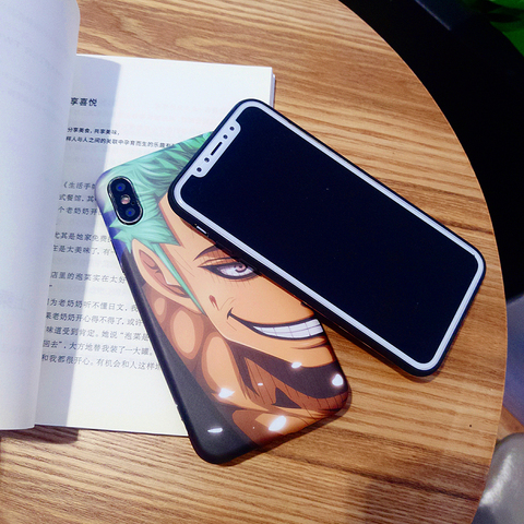 LinXiang Japanese Anime One Piece Luffy Zoro Matte Phone Case Back Cover For iphone 6 6s 7 8 Plus X XS Max XR 11 Pro Multan