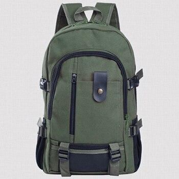 Men's Canvas Backpack Large-capacity Schoolbag Explosion Solid Color Rucksacks Fashion Casual Travel Sport Bag Backpack