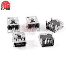 Mini Usb-2.0 Connector-Type 5pin Power-Jack Straight-Plug DIP 4-Feet 10pcs/Lot
