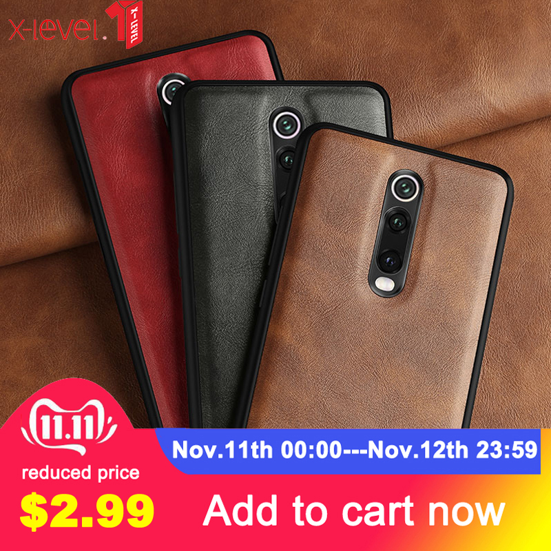 For Xiaomi Redmi <font><b>K20</b></font> Mi 9T 9T <font><b>Pro</b></font> <font><b>Case</b></font> X-Level Retro Leather Soft Silicone Edge Back Cover for Redmi <font><b>K20</b></font> <font><b>Pro</b></font> <font><b>Case</b></font> Capa Quality image