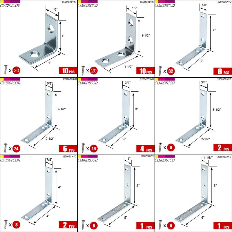 Angle Plate Corner Brace  L Shaped Flat Fixing Mending Repair Plates Brackets Repair Bracket