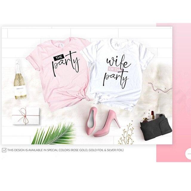 Camisas de fiesta nupcial, camiseta personalizada de despedida de soltera, esposa de la fiesta, regalo de propuesta de dama de honor, tanques de camisa de dama de honor