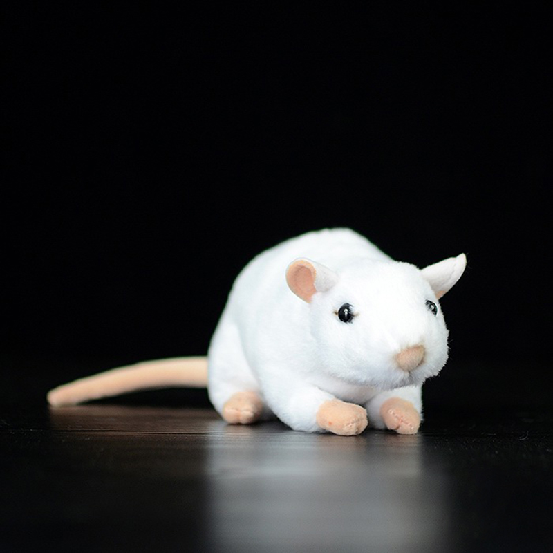 Extra Soft Real Life Mini White Rats Mouse Plush Toy Lifelike Mice Stuffed Animals Toys Birthday Christmas Gifts