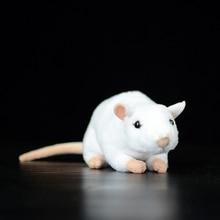 Extra Soft Real Life Mini White Rats Mouse Plush Toy Lifelike Mice Stuffed Animals Toys Birthday Christmas Gifts