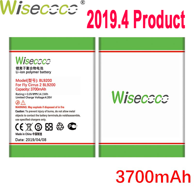 WISECOCO 3700mAh BL9200 Battery For <font><b>FLY</b></font> FS504 <font><b>FS</b></font> <font><b>504</b></font> cirrus 2 cirrus2 FS514 Mobile Phone Latest Production High Quality Battery image