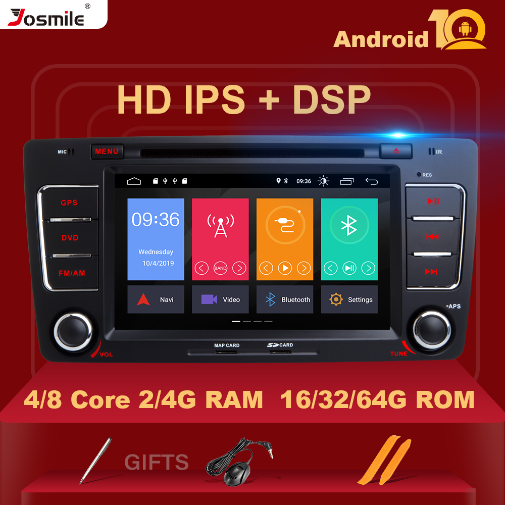 8Core 64G ROM IPS DSP Android 10 Car DVD Player For Skoda Octavia 2 3 A 5 A5 Yeti 2009 2010 2011 2012 2013 Radio GPS Navigation