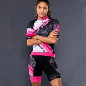 Bettydesigns bicicleta camisas de manga curta das mulheres ciclismo roupas da bicicleta pro conjuntos da equipe secagem rápida camisa ropa ciclismo terno gel almofada