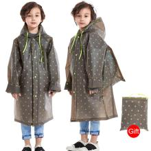 Children Raincoat Fashion Schoolbag-Cover Poncho Hooded Impermeable One-Piece Kid