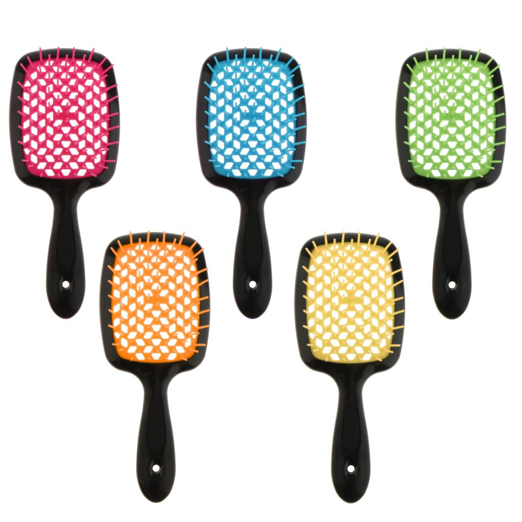 Professional Women Men Kids Hair Scalp Massage Comb Detangler Brush Salon Styling Tools